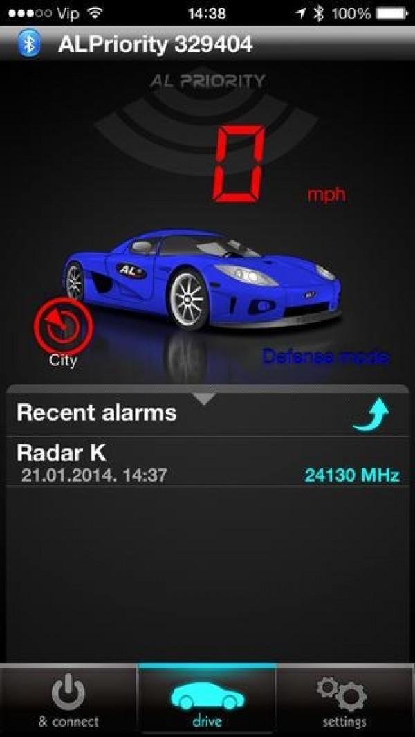 AntiLaser - AL Priority Bluetooth Modul - Alarm bei Radarmessung