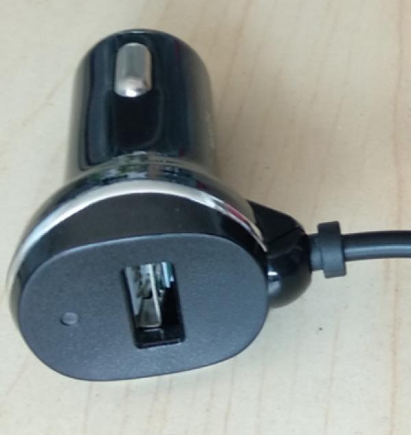 USB Netzkabel für Genevo Radarwarner - zum Anschluss an Zigarettenanzünder im Auto mit USB Steckplatz
